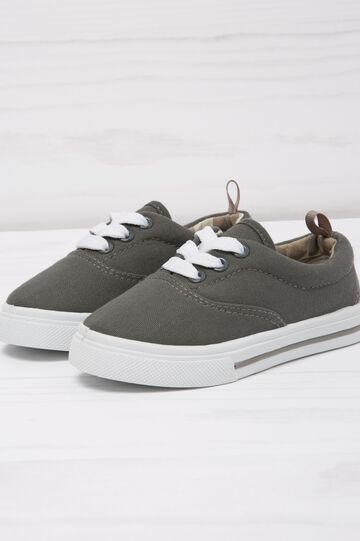 Sneakers con suola a contrasto, Grigio, hi-res