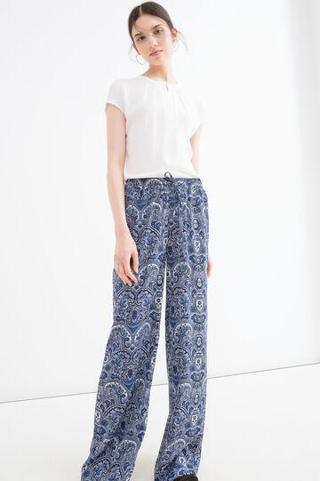 Pantaloni con stampa all-over, Blu, hi-res