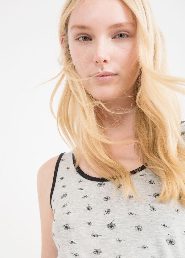 Top cotone stretch profili a contrasto | OVS