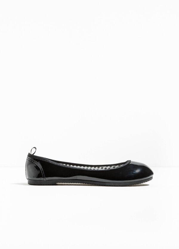 Shiny rounded toe ballerina flats | OVS