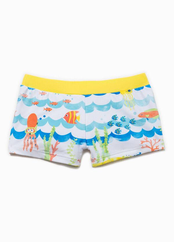 Patterned stretch swim boxers | OVS