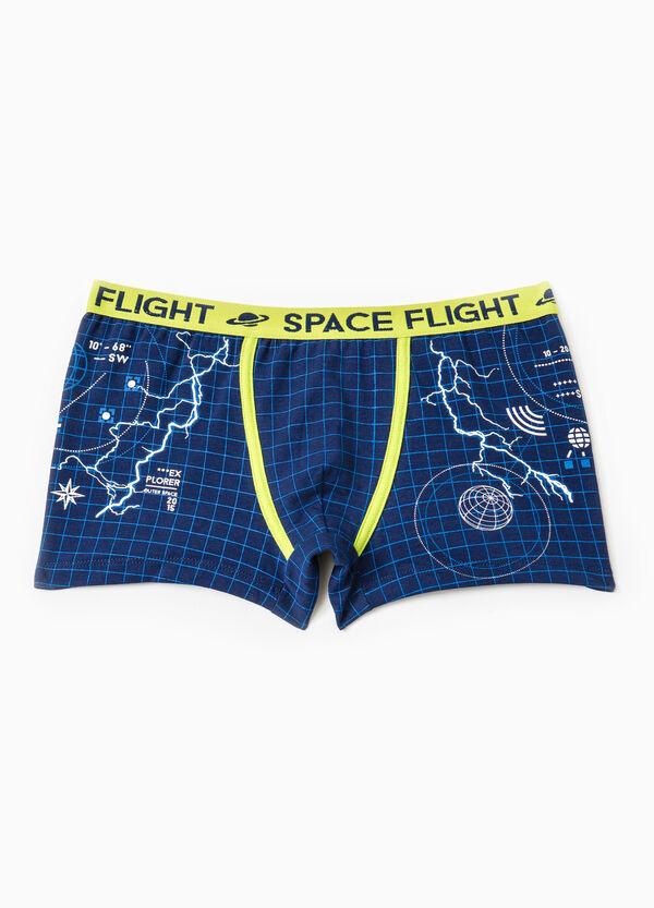 Check boxers in stretch cotton | OVS