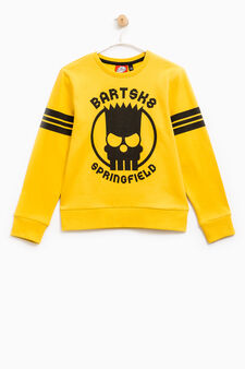 Sweatshirt with The Simpsons print, Yellow, hi-res