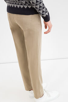 Slim fit, stretch cotton trousers, Dove Grey, hi-res