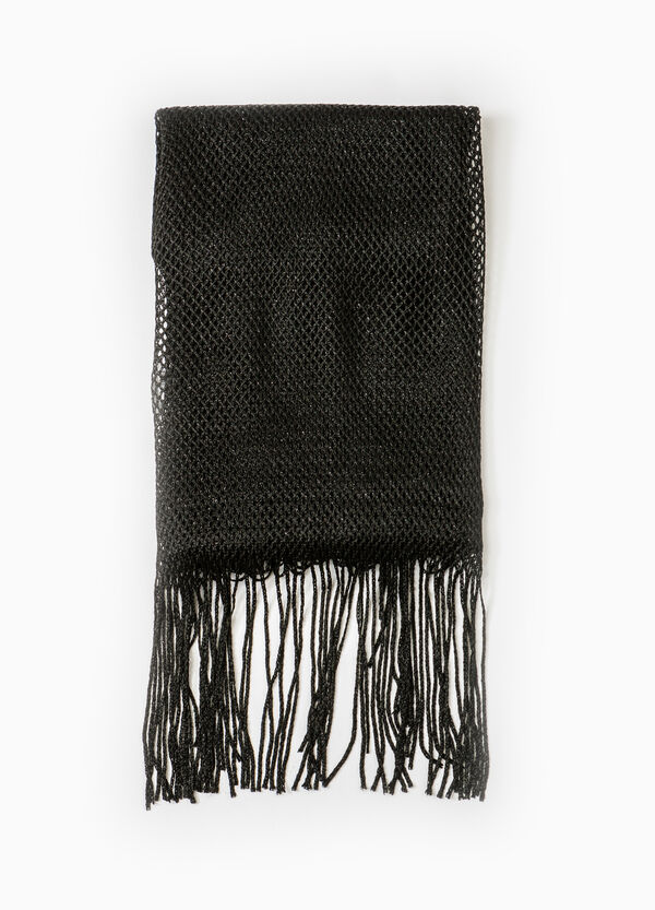 100% viscose scarf with fringing | OVS