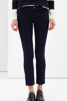 Skinny fit stretch trousers, Blue, hi-res