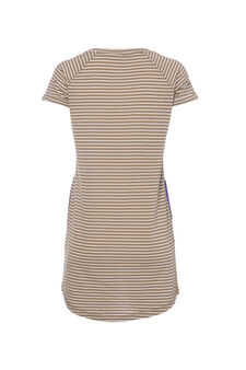 Smart Basic striped dress, White/Brown, hi-res