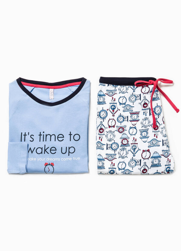 Pijama con estampado de relojes | OVS