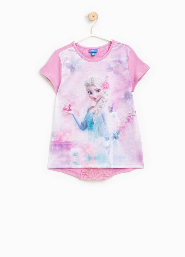 T-shirt in cotone con stampa Frozen | OVS