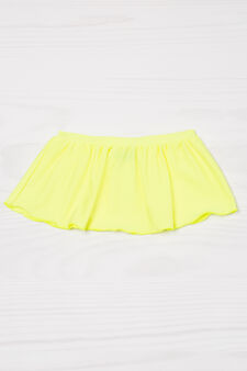Plain stretch swim skirt, Yellow, hi-res