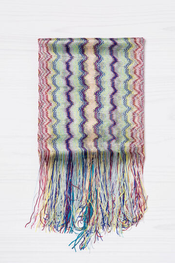 Viscose scarf with jacquard pattern