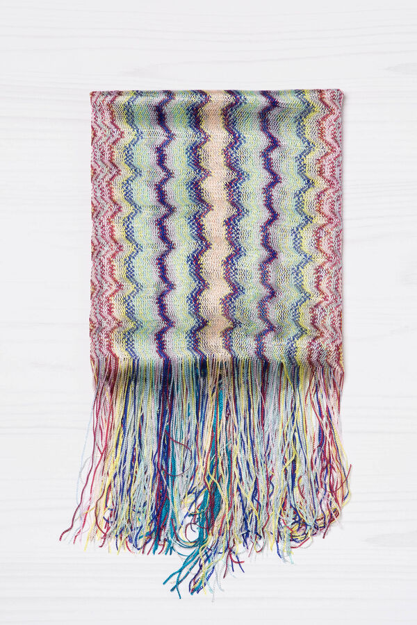 Viscose scarf with jacquard pattern | OVS