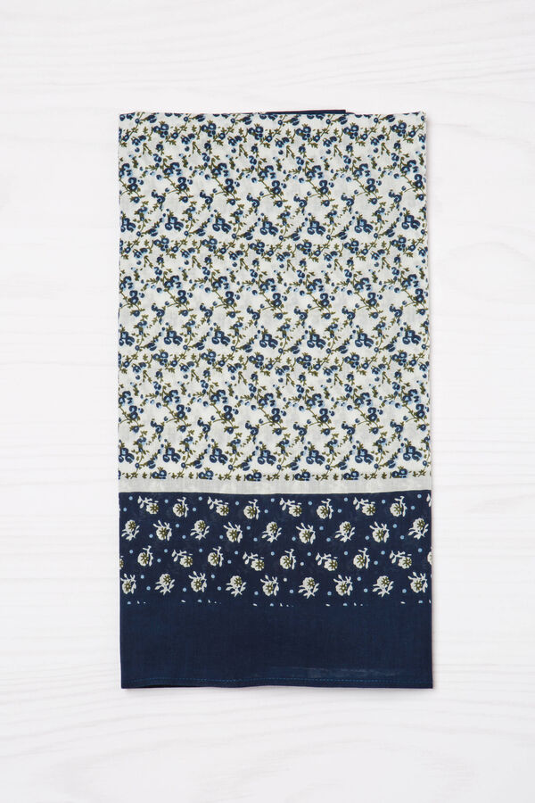 100% cotton floral scarf | OVS