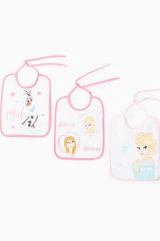 Three-pack cotton Frozen bibs, Multicolour, hi-res