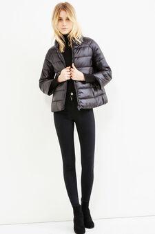 Down jacket with three-quarter sleeves, Black, hi-res