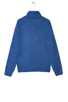 Solid colour knitted pullover, Electric Blue, hi-res