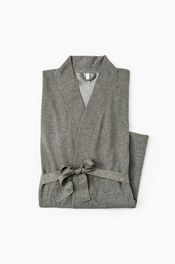Cotton lurex blend robe, Grey Marl, hi-res
