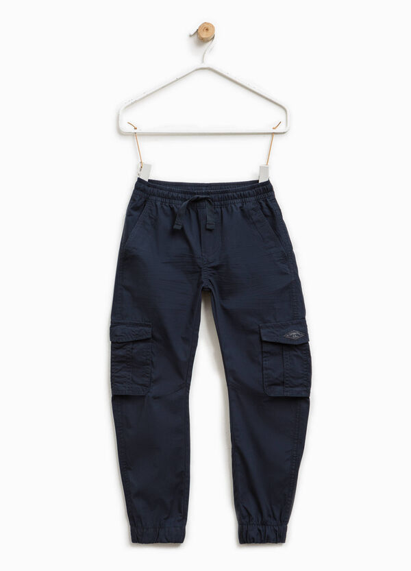 100% cotton trousers with pockets | OVS