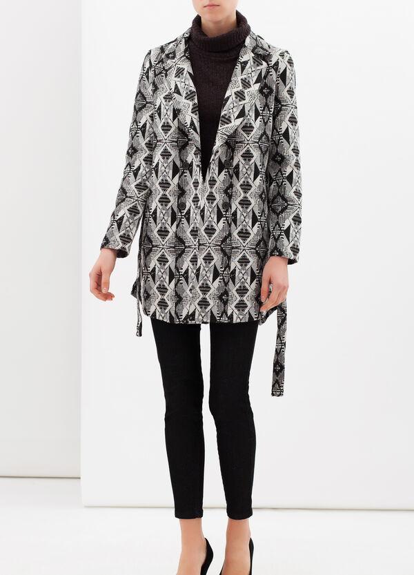 Patterned coat with belt | OVS