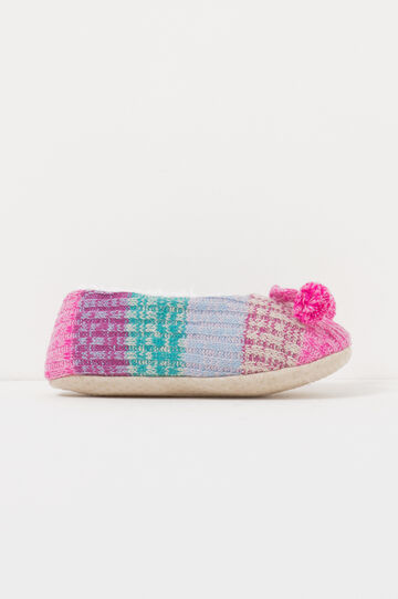 Knitted ballerina slippers, Multicolour, hi-res