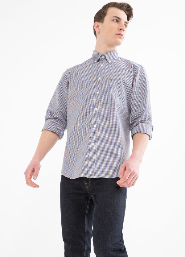 Camicia regular fit micro quadri | OVS