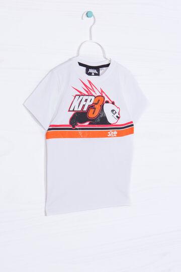 T-shirt with Kung Fu Panda print, Cream, hi-res