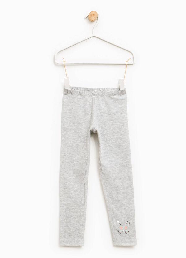 Leggings en algodón elástico con estampado | OVS