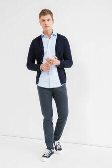 Slim-fit casual shirt with cut-away collar, Light Blue, hi-res