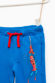 Joggers with Spiderman print, Royal Blue, hi-res