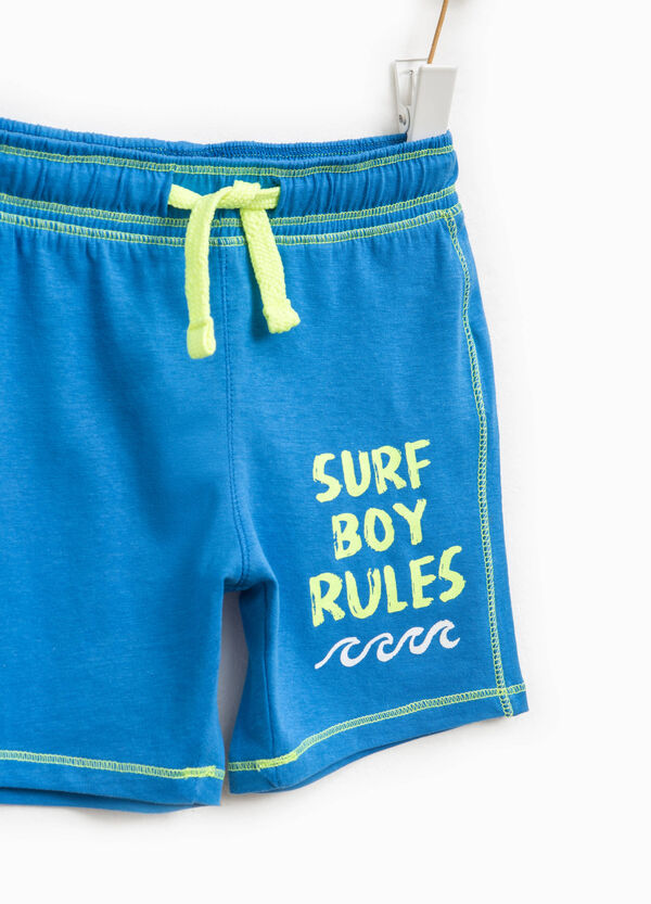 Bermuda shorts with drawstring and printed lettering   OVS
