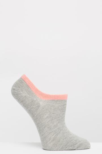 Three-pack stretch cotton socks, Light Grey, hi-res