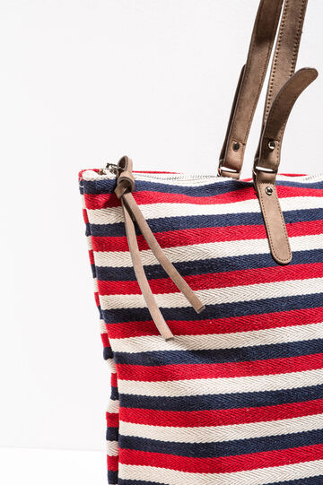 Striped cotton shoulder bag