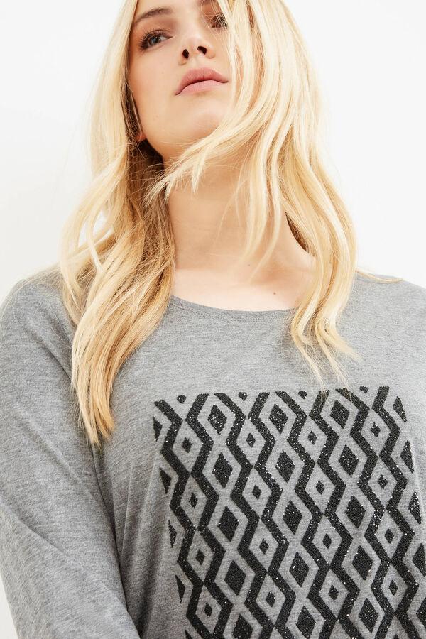 T-shirt viscosa stampa glitter Curvy | OVS