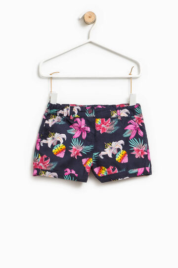 100% cotton floral shorts