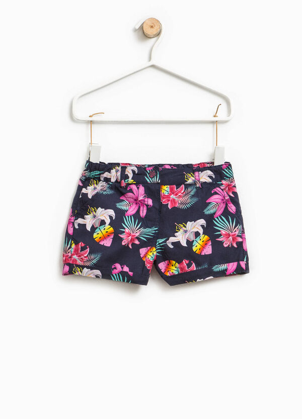 100% cotton floral shorts | OVS