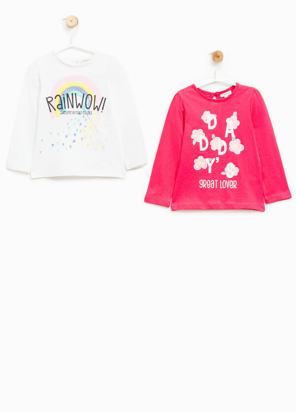 Two-pack printed cotton T-shirts | OVS