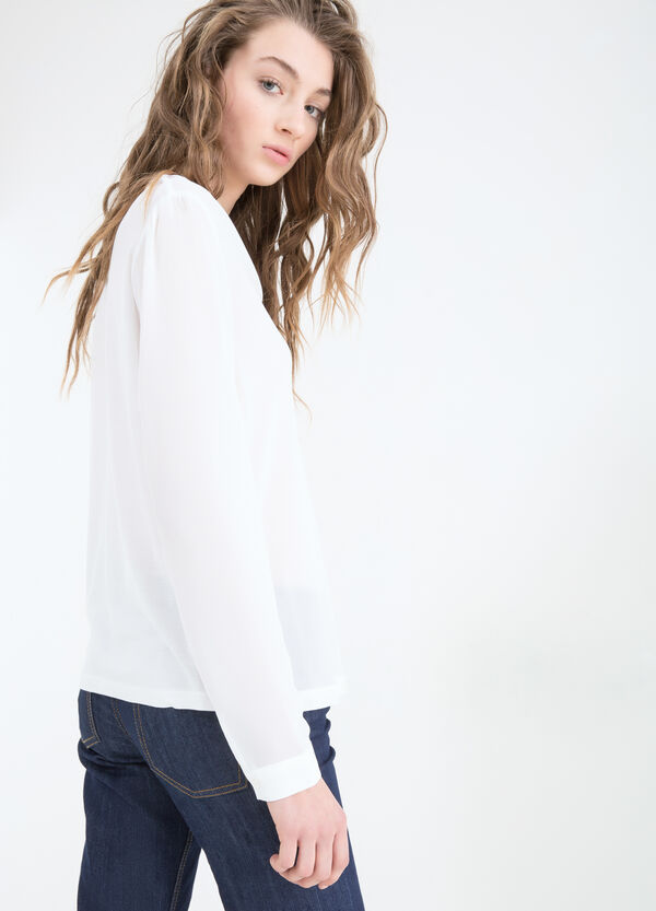 Blouse with long sleeves | OVS