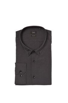Easy-iron, check shirt, Blue/Grey, hi-res