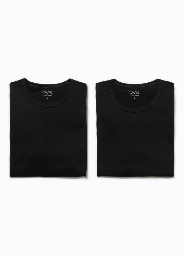 Two-pack undershirts with round neck | OVS