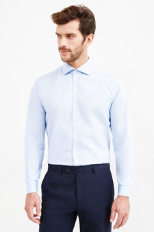 Camicia formale regular fit in puro cotone, Blu chiaro, hi-res