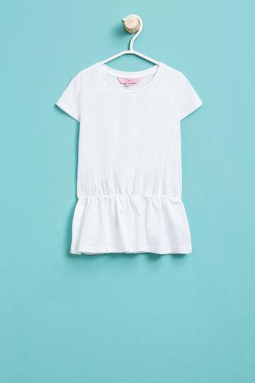T-shirt lunga con vita elasticata