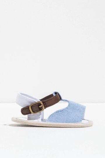 Sandali bicolore con suola a contrasto, Blu chiaro, hi-res