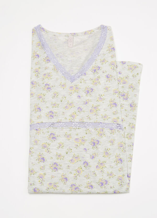 100% cotton floral nightshirt | OVS