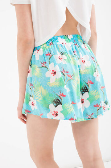 Maui and Sons printed culottes, Light Blue, hi-res