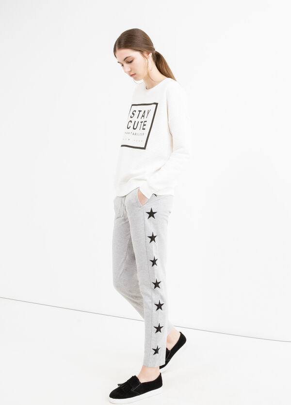 Joggers with stars patches | OVS