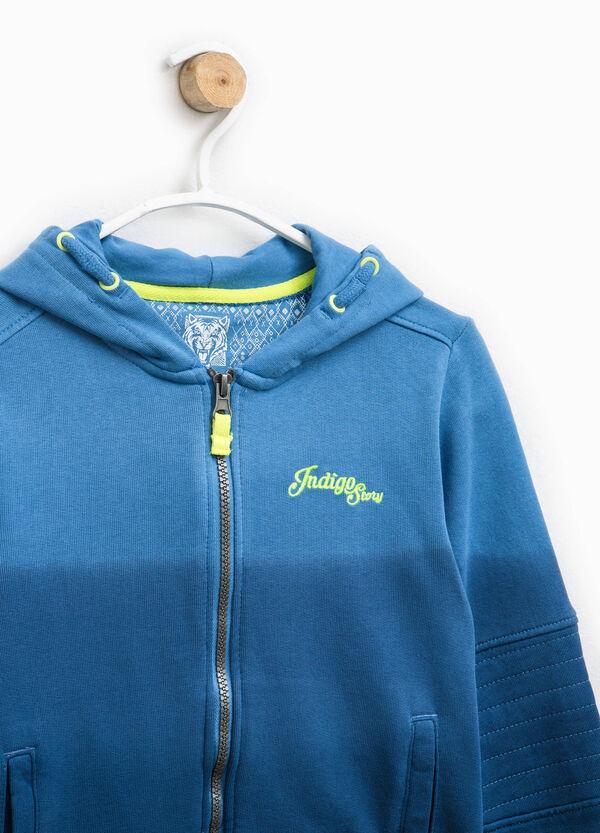 Embroidered degradé cotton hoodie   OVS