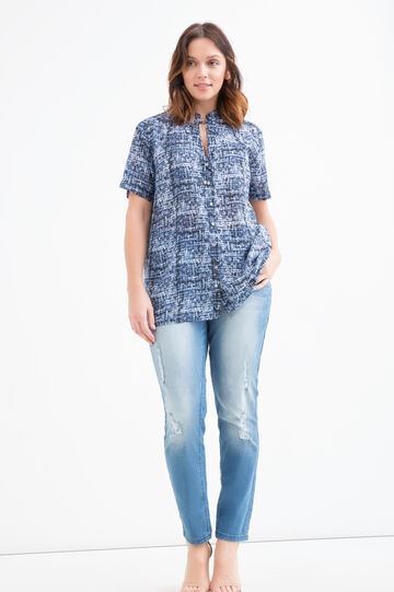 Curvy patterned blouse