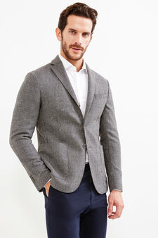 Rumford wool and cashmere jacket, Grey, hi-res