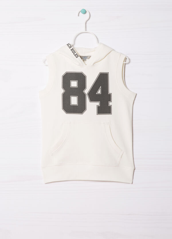 Sleeveless T-shirt in 100% cotton. | OVS