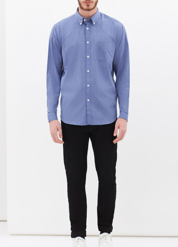 Plain shirt with pocket | OVS